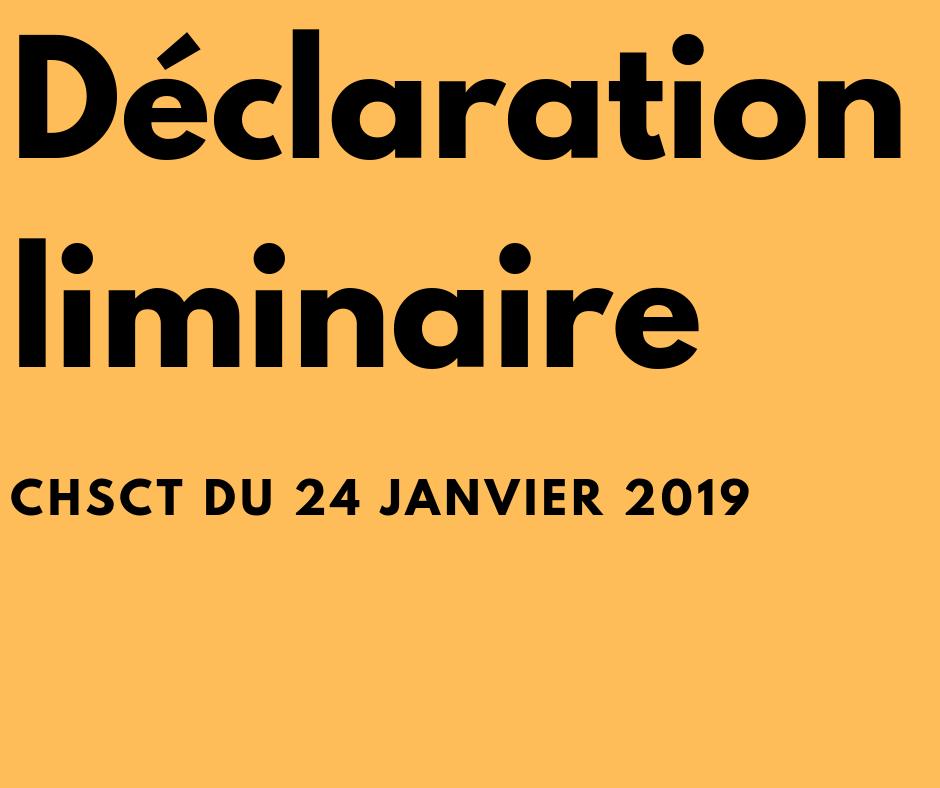 Déclaration liminaire_24 janvier 2019