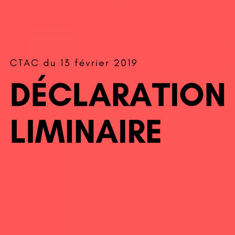 CTAC du 13 février 2019