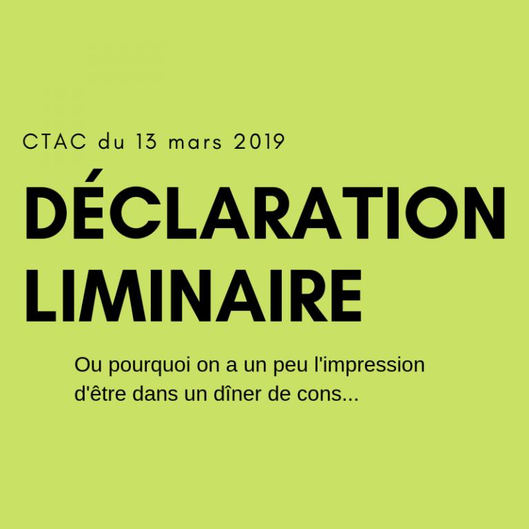 CTAC du 13 mars 2019